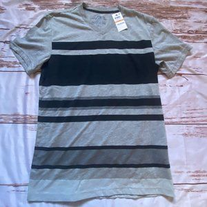 American Rags mens V-neck shirt-gray-size Small